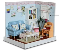 Diy every time a good time wooden doll toy house for kids gift