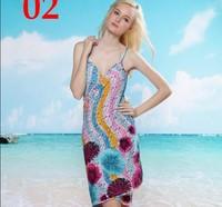 Bikini big yarn swimwear big mantillas beach towel yarn skirt magicaf spaghetti strap beach dress