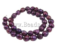 Free Shipping A 11-12mm Hole:Approx 0.8mm Length:15Inch natural purple Potato Cultured Freshwater Pearl Beads Jewelry Making diy