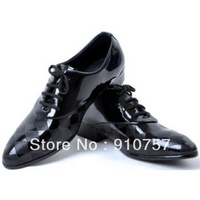 2013 han edition British wind fashion shoes summer breathable pointed single patent leather and recreational leather shoes