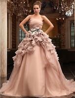 New 2013 pink white/ivory wedding dress custom size 2-4-6-8-10-12-14-16-18-20-22
