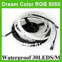DC 12V 5M 5050 Dream Color RGB LED Flexible Strip Light 30LEDS/M Waterproof