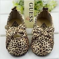 Free Shipping Sexy Baby Girl Shoes Cute Leopard Print Toldder Shoes First Walker Slip-on  3 to 12 Months Infant