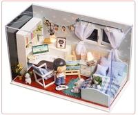 DIY Heart of Ocean wooden doll house model building for kids gift