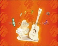 Wool puzzle model of three-dimensional puzzle diy toy handmade assembling model guitar piano