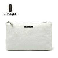 2013 Lady's Fashion White Stone Pattern Patent Leather Cosmetic Bag Storage Bag