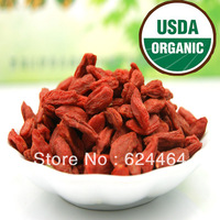 100% CERTIFIED ORGANIC wolfberry,New Arrived Ningxia Goji Berries,Contain a rich of vitamins and amino acids,Free Shipping