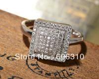 GWJ016 Wholesale Zircon Jewelry 1PC New style Fashion 925 Silver Micro pave CZ Ring, Size 7