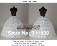 High Quality Cheapeat 6 Hoop Wedding Bridal Gown Dress Quinceanera Petticoat Underskirt Crinoline Wedding Accessories Hot sale