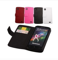 free shipping Leather Case  for Lenovo A800, cover  housing for  Lenovo A800  red pink white black in stock free shipping