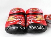 Free shipping Hot sale second generation cars shoes Kids 3D cartoon sandal/slippers boys size :6C7-12C13+Hello kitty towel 1PC