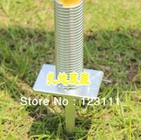 Ground Spike for Soccer/Football Speed Agility Training Poles/Pile Anchor,Slalom/Boundary Poles Accessaries(Metal,25.6cm,12/set)