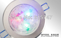 4PCS/LOT For Home Party / Balls / Disco / Festivals Celebration 3W LED Ceiling Stage Light with Full Color Rotating 85-265V(China (Mainland))