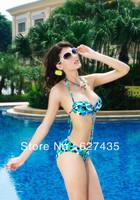 Wholesale!FREE SHIPPING(10pieces) 100% Brand New Women's Sexy lingerie,Sexy One-piece Swimwear Cobalt Blue Halter Bikini LC40406