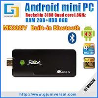 New Original MK802IV Rikomagic Mini pc RK3188 Android Quad core DDR3 2G ROM 8G Wifi Bluetooth HDMI dongle