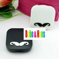 New cute Mustache styles contact lenses case & box /  lens Companion box / Wholesale