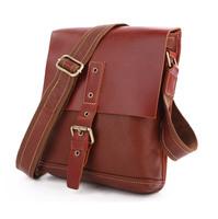 Vintage Genuine real leather Unisexual messenger bag Cowboy Vintage Leather Shoulder handbag JMD7157A-245