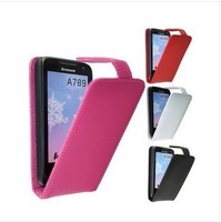 free shipping Leather Case cover   for Lenovo P700 P700I Housing for P700  red pink white black  in stock free shipping