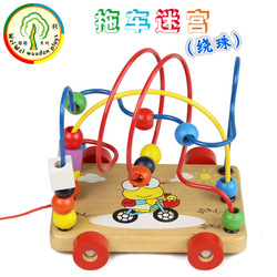 Trailer around the beads toy around the bead maze baby educational toys(China (Mainland))
