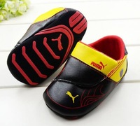 Retail 11cm 12cm 13cm free shipping 2013 Cool black casual PU 0-3 years baby toddler shoes girls and boy  footwear shoes