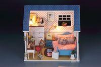 Handmade DIY Assembling wooden Doll House Model l Birthday Gift for Kids, Toy  house - Sunshine home