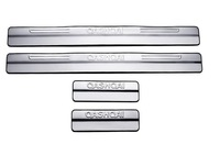 freeshipping nissan Qashqai stainless steel scuff plate door sill 4pcs/set car accessories for Qashqai