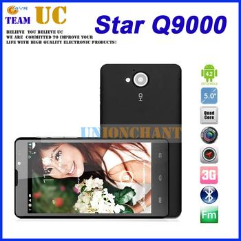 Star Q9000 Black HD(1280*720) 5.0'' IPS support multi language 1GB+4GB MTK6589 Quad core Android 4.2 phone