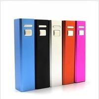 Free shipping Universal Power Bank 2600mAh Colorful mini Portable Bank for Mobile phone