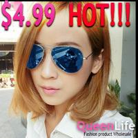 Cheap Price Fashion High Quality Metal Frame Designer Sunglasses 9 Color Retro Reflect Sunglasses For Men Women Free Shipping