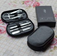 Beauty stainless steel nail art tool bag nail art set finger nail clipper plier nail art piece set 110g    Free shipping