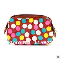 Wuhua 2013 new fashion polka dot women's day clutch candy color clutch summer women's handbag cosmetic bag makeup bags