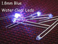 500pcs/Lot, New 1.8mm Blue Bright Water Clear LED 7000mcd Leds 2-Pin Free Shipping