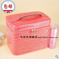 2013 New fashion Large capacity stone pattern shaping built-in compartment cosmetic box portable cosmetic bag women's handbag