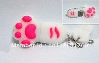 Free Shipping , Cat Feet Shape USB , New 4GB/8GB/16GB/32GB USB2.0 Flash Memory Stick Pen Drive High Qualtiy(BSZ-080)