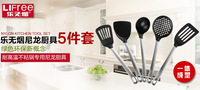 Free shipping Heat resistant nylon shovel, spoon skimmer spatula fry shovel , non-stick cookware 5pieces/set
