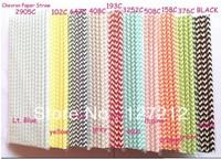 1000pcs/lot Paper Straws Chevron  Mix wedding Supplies 19.5MM Paper Drinking Straws Free Shipping Via DHL/EMS/FEDEX