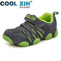 Children shoes child single shoes female 2014 summer genuine leather cutout breathable sports sandals child boys shoes