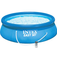 Blue Ultralarge intex thickening child swimming pool infant adult inflatable pool()