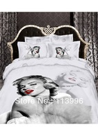 Sex Marylin Monroe 3D top quality 100% cotton active printed duvet doona cover sheet sets queen king bedding sets for comforter