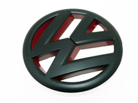 Matte Black Red Front Grille Emblem Badge For VW Golf Mk6 GTI TSI TDI