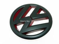 Matte Black Red Front Grille Emblem Badge For VW Golf Mk6 GTI TSI TDI