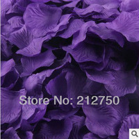 100pcs/pack, 50packs/lot free shipping dark purple beautiful fashion wedding rose flower silk petals