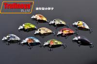New Arrival,10 color 3.5cm/3.5g small CRANKBAIT fishing lures,crank fishing hard bait,10pcs/lot,Free shipping