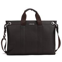 2014 new hot sale Free shipping  Fashion commercial  cowhide male handbag messenger bag laptop bag a 14 4 paper man bag