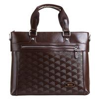 Free Shipping Commercial 2014 new arrival Genuine leather  man bag handbag messenger bag check brief fashion man bag briefcase