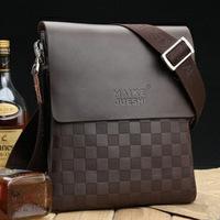 2014 new arrival Free shipping Genuine leather male shoulder bag casual bag messenger bag business bag