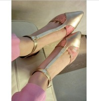 Say color daie r spring and summer gauze pointed toe serpentine pattern leg bandage thin heels high-heeled shoes