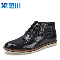 Commercial leather male fashion casual genuine leather thermal cotton-padded shoes high-top shoes men 7532