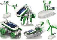 Frog six ecumenical solar toy child diy assembling puzzle