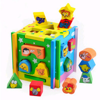 Shape wooden baby toy diy disassembly intellectual Box